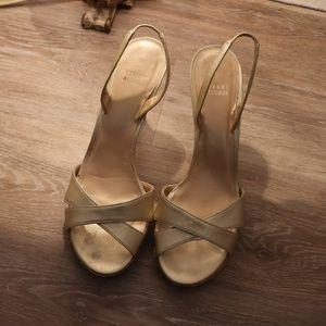 Gold Stuart Weitzman Shoes